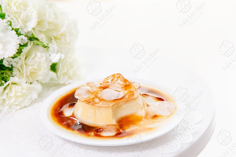 Bánh flan sầu riêng