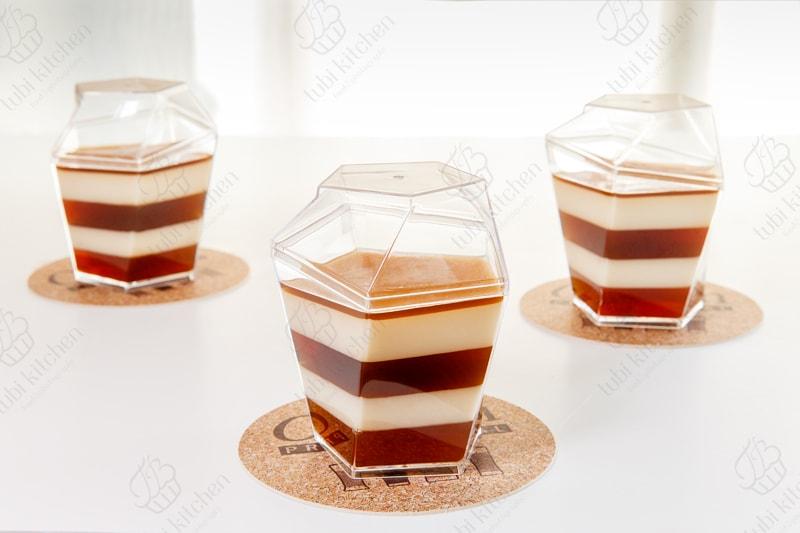 Rau câu flan dừa cà phê