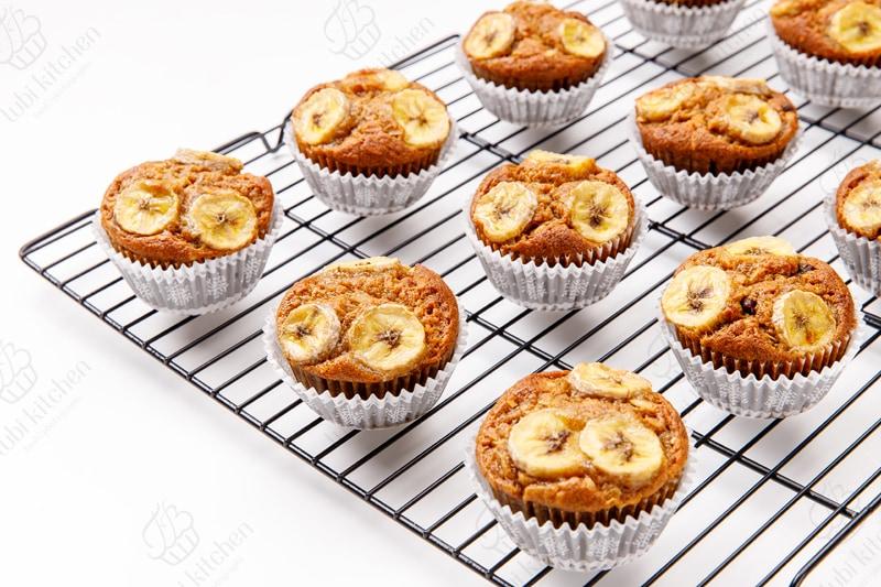 Muffin socola chuối dừa